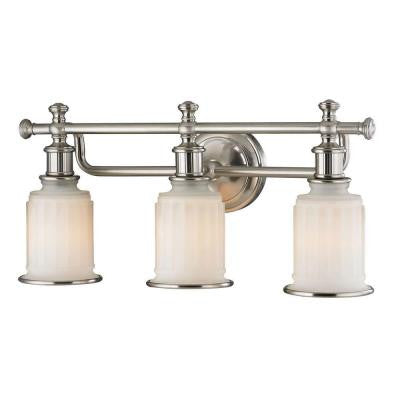 Acadia 22 in. 3-Light Brushed Nickel Vanity Light