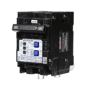 20-Amp Double-Pole Type MP-AT Combination AFCI Circuit Breaker