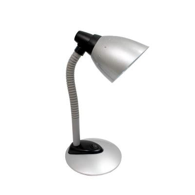16.34 in. Silver High Power LED Desk Lamp with Flexible Hose Neck