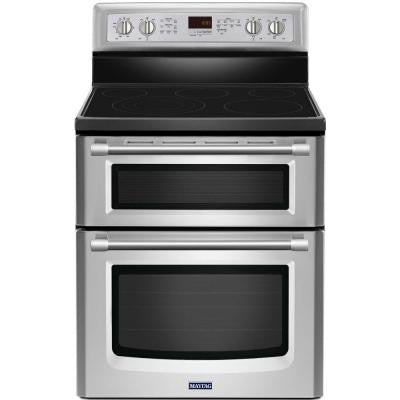 Gemini 6.7 cu. ft. Double Oven Electric Range with Self-Cleaning Convection Oven in Stainless Steel