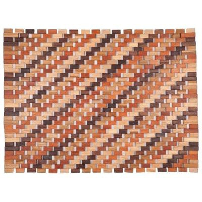 Roosevelt Natural 18 in. x 30 in. Exotic Wood Mat