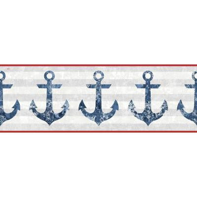 9 in. Nautical Living Anchors Away Border