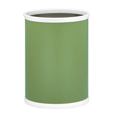 13 in. Mist Green Oval Mylar Trash Can