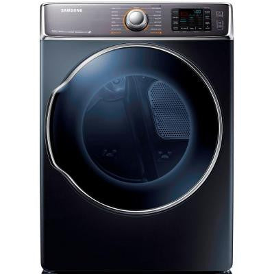 30 in. W 9.5 cu. ft. Electric Dryer with Steam in Onyx