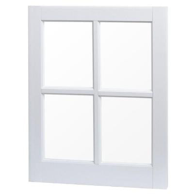 20 in. x 25 in. Utility Fixed Picture Vinyl Window with Grid - White