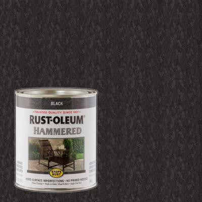1-qt. Black Hammered Rust Preventive Paint (Case of 2)
