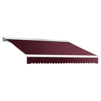 20 ft. DESTIN EX Model Left Motor Retractable with Hood Awning (120 in. Projection) in Burgundy