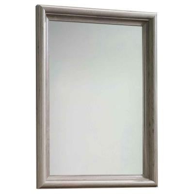 Harbor View Collection 42.785 in. x 30.5 in. Salt Oak Framed Mirror