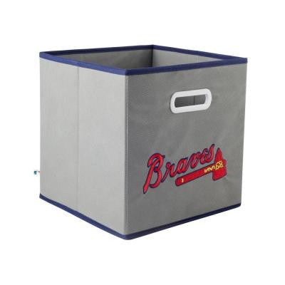 MLB STOREITS Atlanta Braves 10-1/2 in. x 10-1/2 in. x 11 in. Grey Fabric Storage Drawer