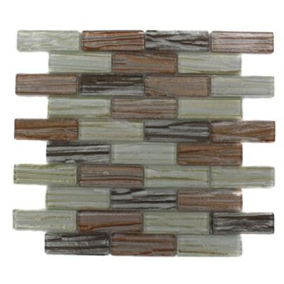 Gemini Mercury Blend 12 in. x 12 in. x 8 mm Glass Mosaic Floor and Wall Tile