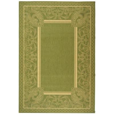 Courtyard Olive/Natural 9 ft. x 12 ft. Indoor/Outdoor Area Rug
