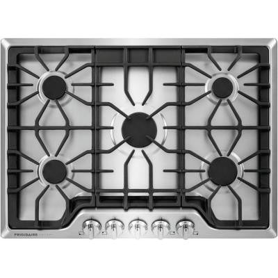 Gallery 30 in. Gas Cooktop in Stainless Steel with 5 Burners
