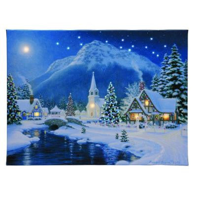 12 in. W x 16 in. H Village IlluminArt