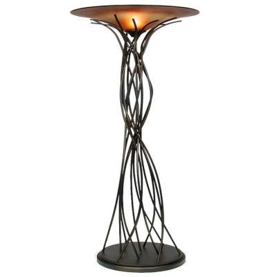 Century 74 in. Caramel and Black Torchiere Lamp