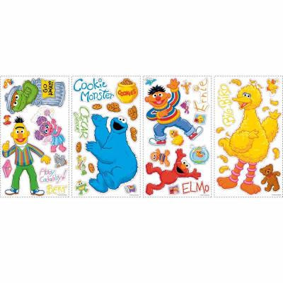 5 in. x 11.5 in. Sesame Street Peel and Stick Wall Decals (45-Piece)
