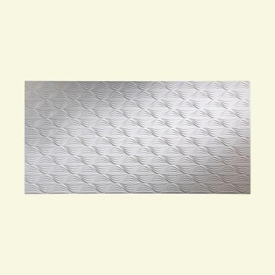 Shallot 96 in. x 48 in. Decorative Wall Panel in Gloss White