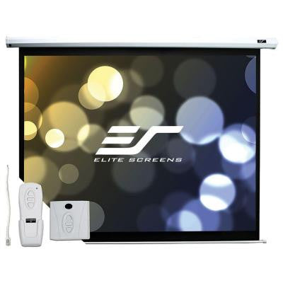 49 in. H x 87 in. W Electric Projection Screen with Black Case
