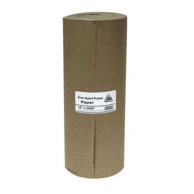 15 in. x 1000 ft. Brown Masking Paper