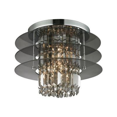 Zoey 3-Light Polished Chrome Semi Flush Mount
