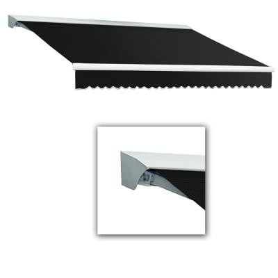 16 ft. Destin with Hood AT Model Left Motor Retractable Awning (16 ft. W x 10 ft. D) in Black