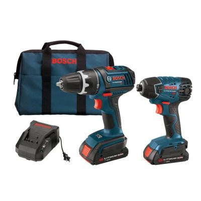 Reconditioned 18-Volt Lithium-Ion Cordless Drill/Driver and Impact Driver Combo Kit (2-Tool)