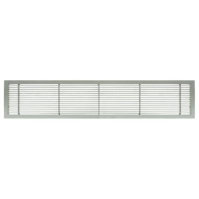 AG10 Series 4 in. x 14 in. Solid Aluminum Fixed Bar Supply/Return Air Vent Grille, Brushed Satin