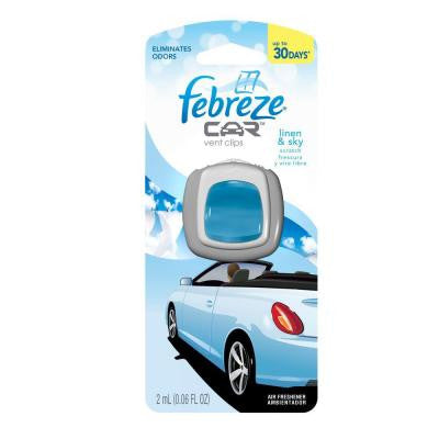 0.06 oz. Linen and Sky Car Vent Clip Air Freshener