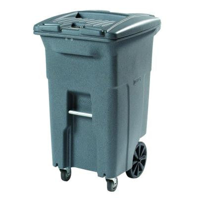 96 Gal. Grey Wheeled Secure Document Cart with Casters