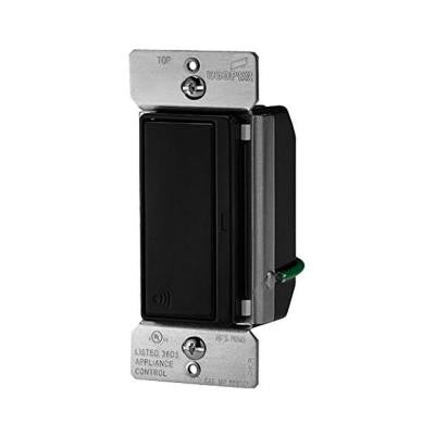 Aspire 15-Amp 120-Volt Single Pole RF Wireless Light Switch - Black