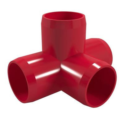 1-1/4 in. Furniture Grade PVC 4-Way Tee in Red (4-Pack)