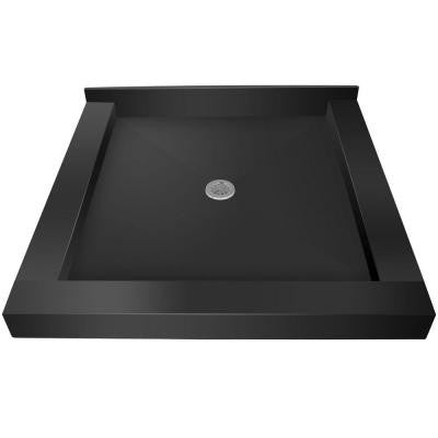 32 in. x 32 in. Triple Threshold Shower Base with Center Drain