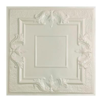 Niagara 2 ft. x 2 ft. Lay-in Tin Ceiling Tile in Antique White