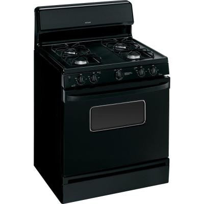 30 in. 4.8 cu. ft. Gas Range with Manual Clean Oven in Black