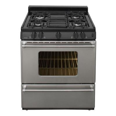 30 in. 3.91 cu. ft. Gas Range in Stainless Steel