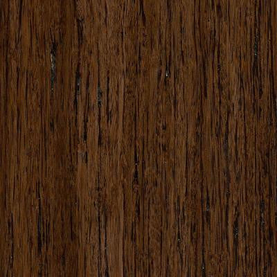 Brushed Strand Woven Gunstock 3/8 in. Thick x 5 in. Wide x 36 in. Length Click Lock Bamboo Flooring (25 sq. ft. / case)