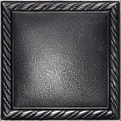 Ion Metals Antique Nickel 4-1/4 in. x 4-1/4 in. Composite of Metal Ceramic and Polymer Rope Accent Tile