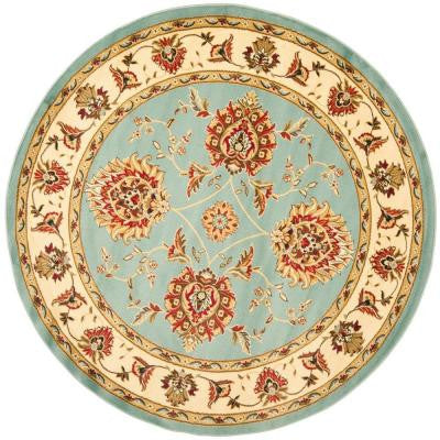 Lyndhurst Blue / Ivory 5 ft. 3 in. x 5 ft. 3 in. Round Area Rug