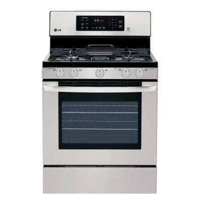 5.4 cu. ft. Gas Range with Self-Cleaning Convection Oven in Stainless Steel