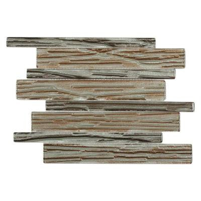 Gemini Tuscan Growth 10 in. x 11-3/4 in. x 6 mm Glass Mosaic Tile