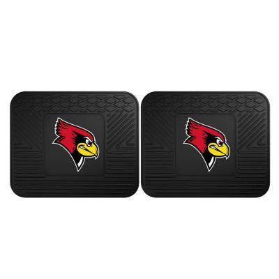 NCAA Illinois State University Black Heavy Duty 2-Piece 14 in. x 17 in. Vinyl Utility Mat