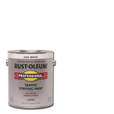 1 gal. White Flat Traffic Striping Paint (Case of 2)