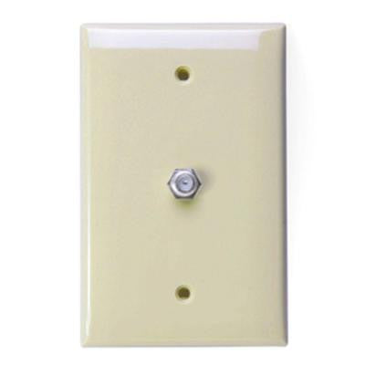 1-Gang Midway CATV Wall Plate - Ivory