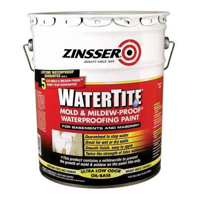 5-gal. WaterTite Mold and Mildew-Proof White Oil Based Waterproofing Paint