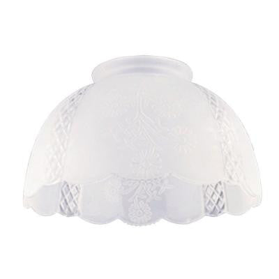 4-1/4 in. Satin Floral Etched Design Shade with 3-1/4 in. Fitter and 7 in. Width