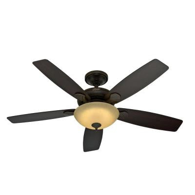 Eco-Air 52 in. LED Indoor Onyx Bengal Ceiling Fan