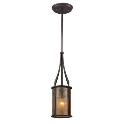 Barringer 1-Light Aged Bronze Ceiling Pendant