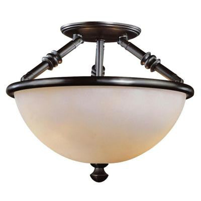 Stanton Hills 2-Light Sable Bronze Patina Semi-Flush Mount