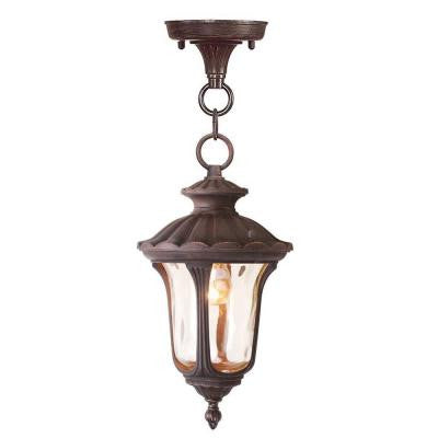 Providence 1-Light Hanging Outdoor Imperial Bronze Incandescent Lantern