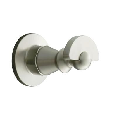Antique Single Robe Hook in Vibrant Brushed Nickel
