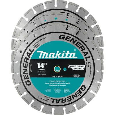 14 in. Segmented Rim General Purpose Diamond Blade (3-Pack)